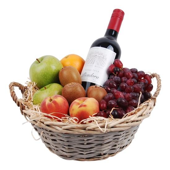 Fruitmand mixed Rode wijn bestellen