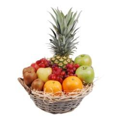 Mixed fruitmand met ananas bestellen